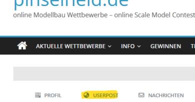 Userpost – Neue Funktion für Mitglieder